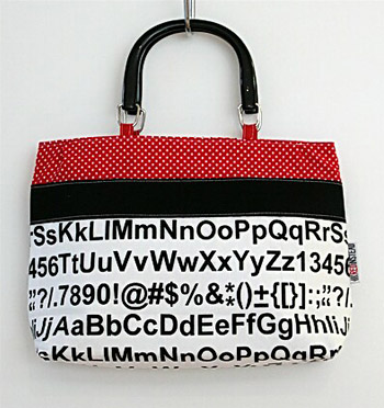 Text Graphic Handbag