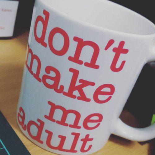 New work mug! httpwwwredbubblecompeoplecateboltworks21671383dontmakemeadultmughotpink?gridpos3amppmugampstylestandard catebolt prettyfknembroidery