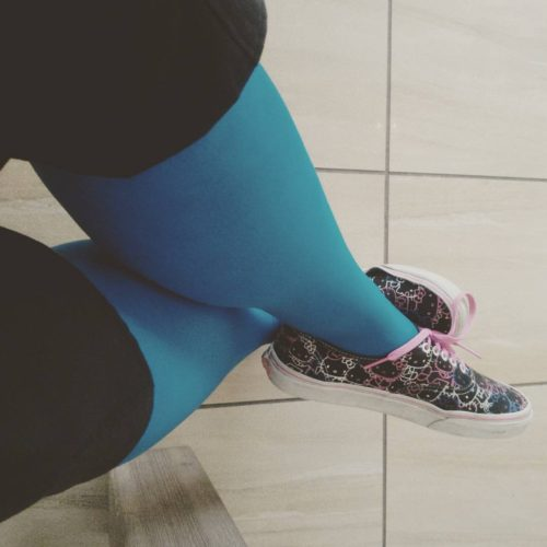 Tights! Hello Winter! welovecolors hellokitty vans