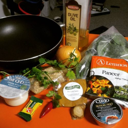 Whats cooking? Spinach paneer curry from my hellofreshau vego boxhellip