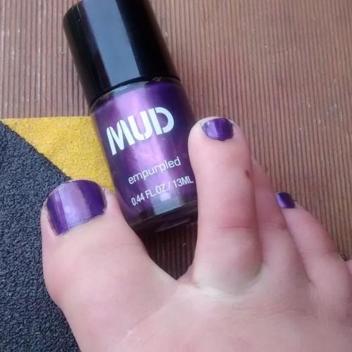 Purple toes! #nailpolish #mud #purple #mardigras