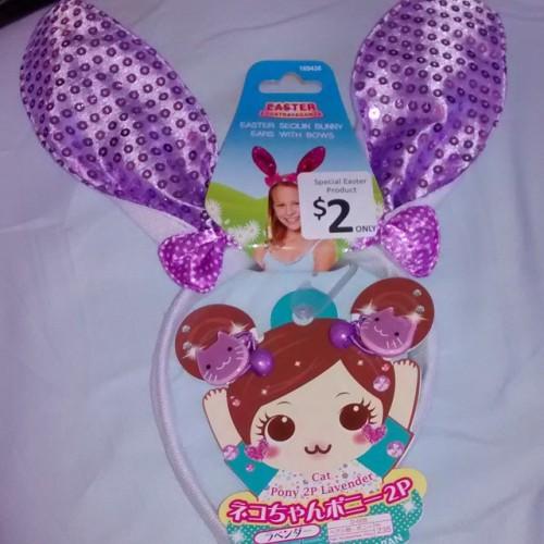 sparkly purple bunny ears