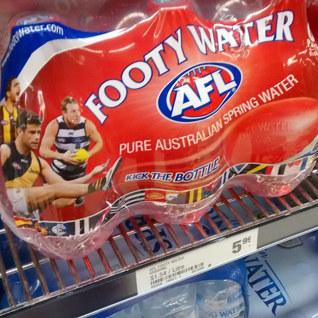 Footy water! Ball shaped for kickin