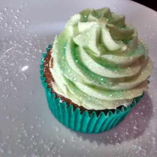 Sparkly cupcake