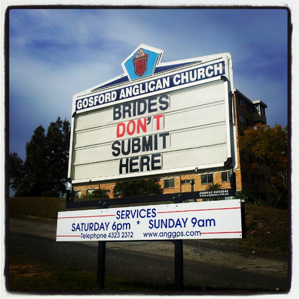 Brides don't submit here