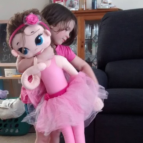 Getting to know her new @ballerinaandme doll #gifted #bloglife