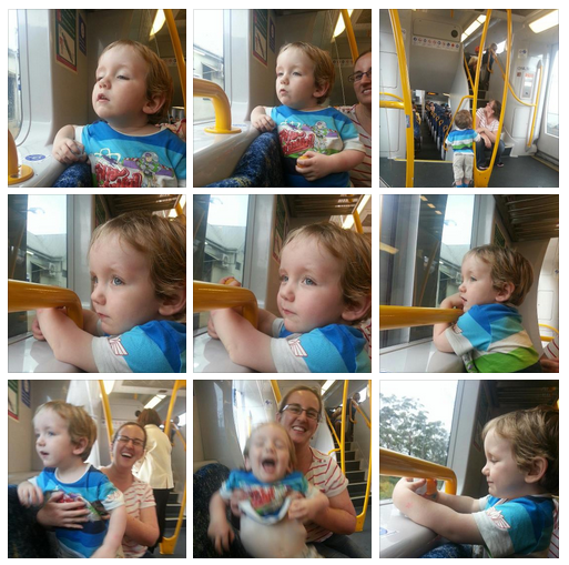 liam on the train