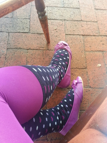 colourful socks and tights