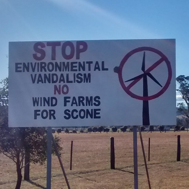 Damn environment vandalizing wind farms