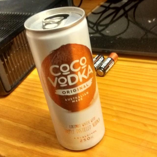 Vodka in coconut water. Wanky much? @coco_vodka #cocovodka (yes it…