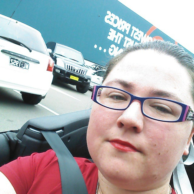 Doing #liptember  at @bunnings :)