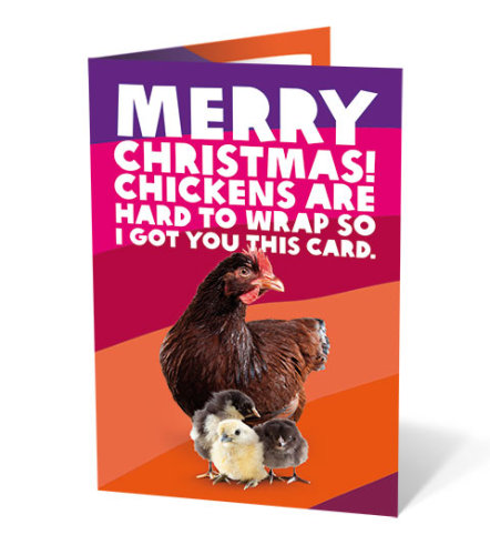 Chicken charity gift card