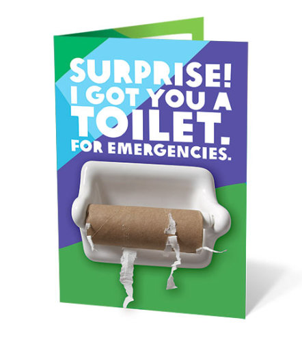 Charity gift card - emergency toilet