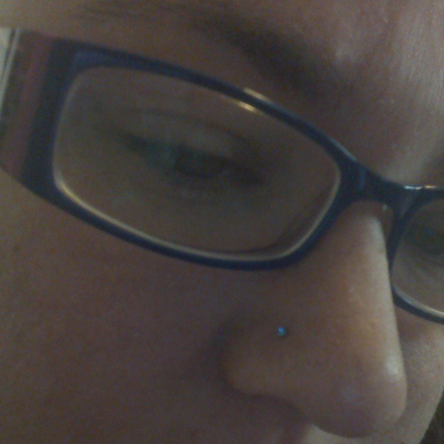 New #blue nose stud #shakecreative