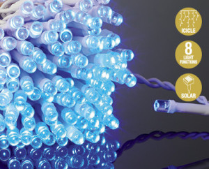 Blue christmas lights from aldi