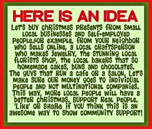 Support small local stores