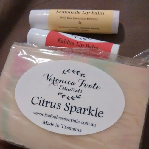 Soap and lip balms from Veronica Foale essentials
