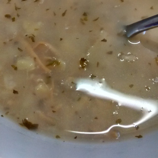 La Zuppa Greek lemon chicken soup snotty