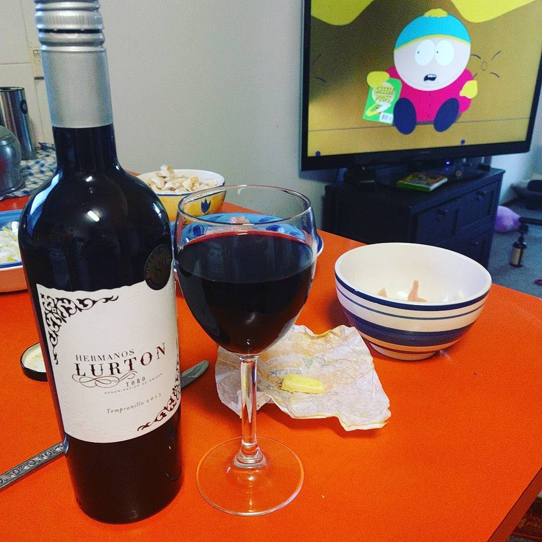 Trying a new Tempranillo with season 1 South Park