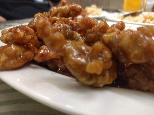 Sticky fried pork