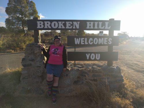 Broken Hill Welcome sign