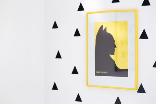 yellow batman poster
