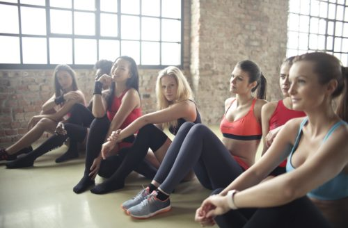 women in exercise clothes