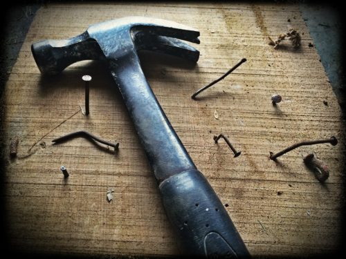 hammer and broken nails